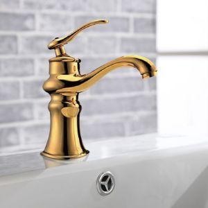 Luxury Royal Design Bathroom Golden Basin Faucet pictures & photos