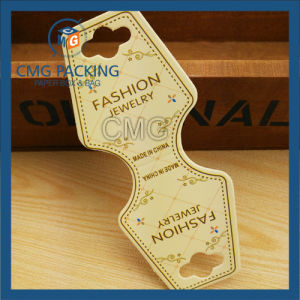Necklace Folded Card with Black Shiny Logo (CMG-076) pictures & photos