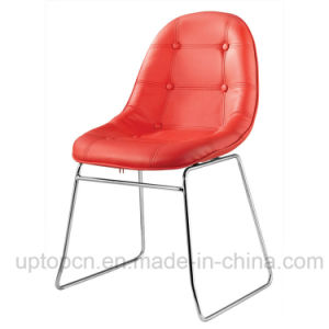 Hot-Selling Cafe Meeting Room Red Leather Egg Shell Chair (SP-LC246) pictures & photos