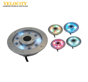 Stainless Steel RGB IP68 LED Underwater Swimming Pool Fountain Lights pictures & photos