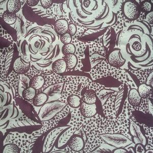 Printed Silk Cdc in Flower Pattern