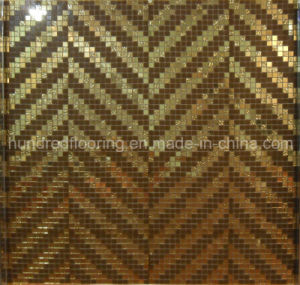 Gold Mosaic Pattern Tile for Wall Decoration (HMP830) pictures & photos
