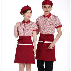 Bar Staff/Waiter/Waitress/Hotel Red Chef Jacket Restaurant Chef Uniform pictures & photos