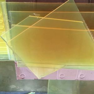 PU Sheet, Polyurethane Sheet Made with Yellow Transparent 100 % Virgin Polyether Material pictures & photos