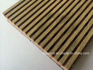 5/3 Fomica HPL Finish Fire-Resistant MDF Groove Acoustic Panel pictures & photos