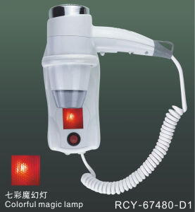 1400W Wall Mounted Hair Dryer with Light S67480d1