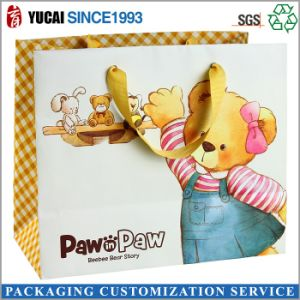 Happy Bear Children′s Paper Shopping Bag pictures & photos