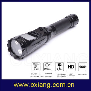1.5inch Display Torch Camera Flashlight DVR Camera for Police Security Patrol pictures & photos