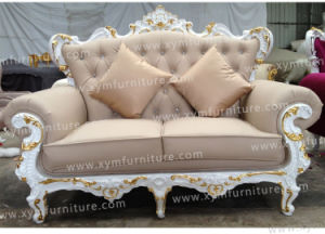 Classy European Double Seat Hotel Restaurant Living Room King Sofa (XYM-S05) pictures & photos