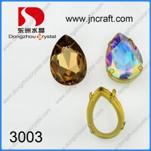 Factory Wholesale 13*18mm Rhinestone Jewelry Beads (DZ-3003) pictures & photos