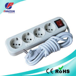 European 4way Electric Socket Extension Socket Power Socket with Wire pictures & photos