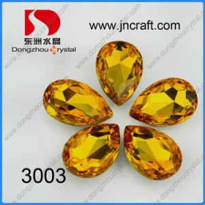 Dz-3003 Light Topaz Tear Drop for Jewellry pictures & photos