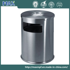 Color Powder Coated Waste Bin with Ashtray on Top pictures & photos