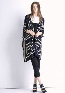 Lady Fashion Cotton Knitted Spring Cardigan Sweater Shawl (YKY2025) pictures & photos