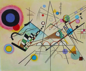 Abstract Music Note Design Canvas Oil Painting for Home Decoration (LH-392000) pictures & photos