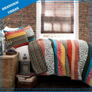 3 PCS Polyester Bed Cover Patchwork Quilt pictures & photos