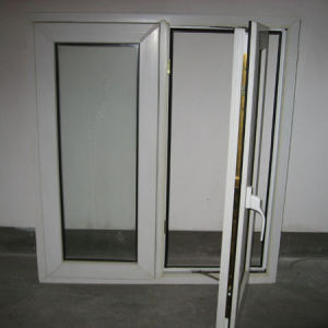 White Colour UPVC Profile Double Sash Casement Window with Multi Point Lock K02005 pictures & photos
