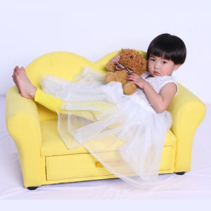 Yellow Two Seat Sofa Import Furniture From China/Childen Furniture pictures & photos