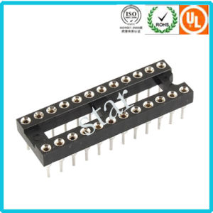 Factory Custom 2.54mm 24 Pin Double Row Pin Header IC Socket pictures & photos