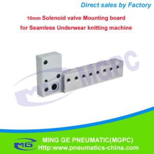 Textile Knitting Machine Parts 10mm Solenoid Valve Mounting Board / Integrated Board
