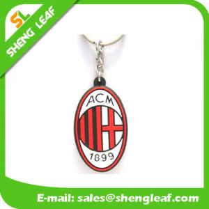 Custom Branded Soft PVC Key Ring for Promotion Gift (SLF-KC079) pictures & photos