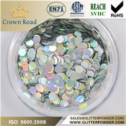 Hot Sale Silver Round Glitter for Textile Industry