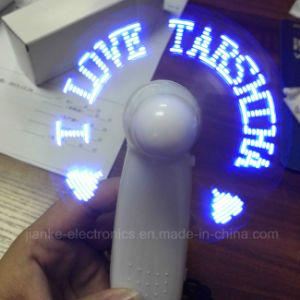 Mini Hand Held LED Light Fan with Logo Printed (3509)