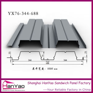 Yx76-344-688 Galvanized Steel Floor Decking Panel pictures & photos