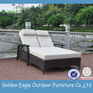 Upmarket Outdoor Furniture Modern Rattan Double Sun Lounger