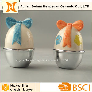 Small Ceramic Easter Egg Candy Jar pictures & photos