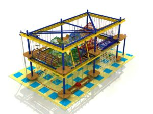 Children Ropes Courses Adventure Popular Adventure Outdoor Wooden Climbing Frame pictures & photos