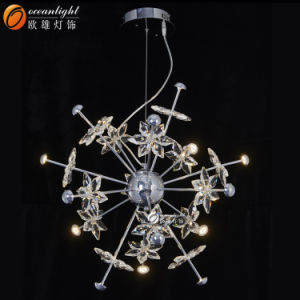Lighting Fixture Pendant Lamp Crystal Drop Pendant Lighting Om66130-4+8+4 pictures & photos