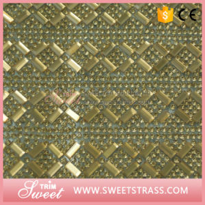 Bling Rhinestone Mesh Roll Light Topaz Rhinestone Mesh Sheet pictures & photos