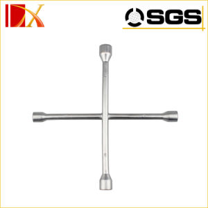 4 Way Wrench X Cross Rim Wrench with Fixing Clamp pictures & photos