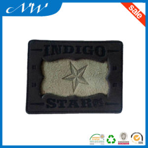 Hand Made Brown Garment Leather Label, Leather Patch pictures & photos