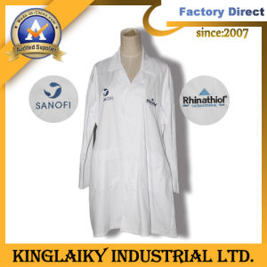 Customized Lab Coat with Logo Embroidery (KLC-01) pictures & photos