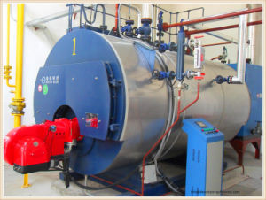 Packaged 4t/H 3 Pass Wet Back Fire Tube Steam Boiler pictures & photos