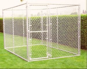 Metal Frame Galvanized Chain Link Dog Kennel/Large Dog Cage pictures & photos