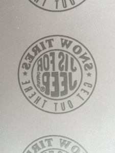 High Quality Heat Transfer Reflective Rubber Label pictures & photos