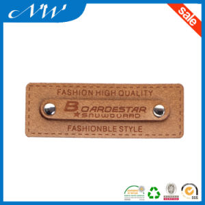 High Quality Branded Leather Patch, Jeans PU Leather Patches pictures & photos