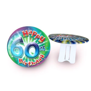 Plastic Button Badge with with Safety Pin in Back pictures & photos