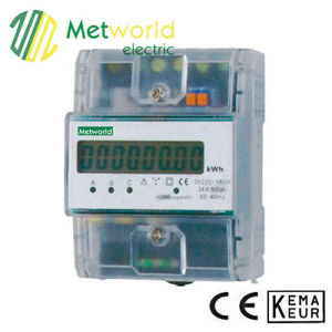Three-Phase DIN-Rail Four Module Electronic Energy Meter pictures & photos