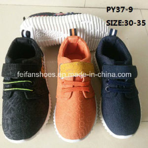 Kid Fashion Sport Shoes Cowboy Shoes Injection Canvas Shoes (PY37-9) pictures & photos