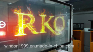 3D Holographic Shopwindow Display Film/Transparent Holographic Projection Film pictures & photos