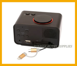 Hotel USB Charging Alarm Clock with LCD Display pictures & photos