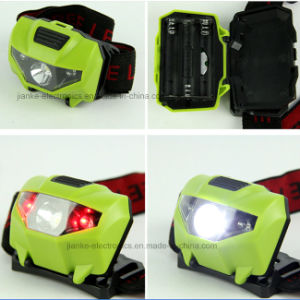 3xaaa Battery LED Ipx7 Waterproof Head Light with Logo Printed (4000) pictures & photos