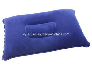 Wholesale Competitive Quality&Price Flatable Square Shape Flocking Neck Pillow pictures & photos