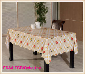 Waterproof and Oilproof PVC Table Cloths for Home and Restaurant Use pictures & photos