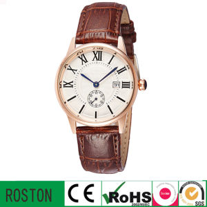 Men Leather Watch with Quratz Waterproof pictures & photos