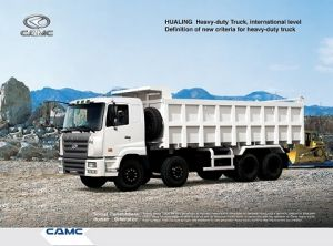 Camc 8X4 Dump Truck with Cummine Engine 375 HP